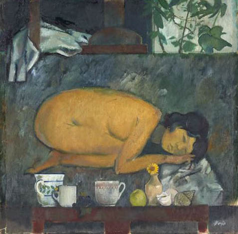 Still Life with Crouching Nude