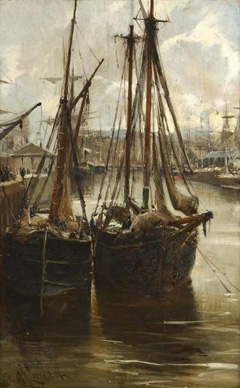 A Busy Harbour Scene, Greenock
