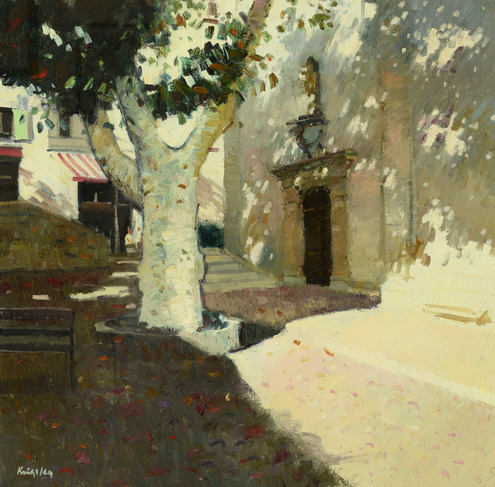 Evening Shadows, Fayence