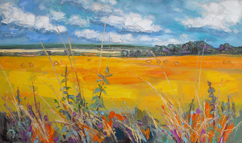 Fields at Harvest, East Linton