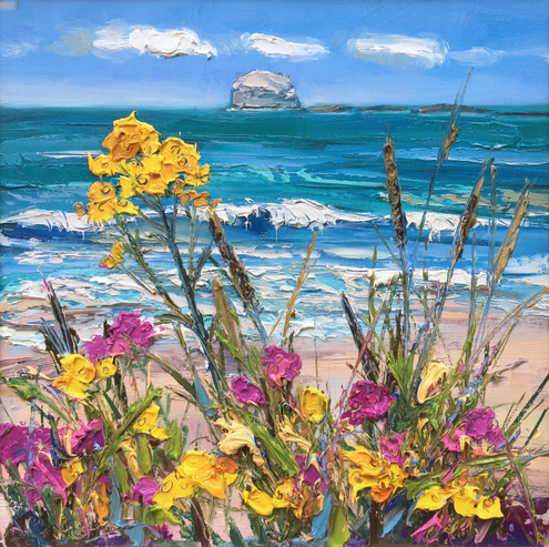 Flowers in the Dunes, North Berwick