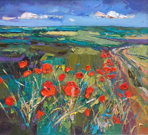 Green Fields and Poppies near East Fortune