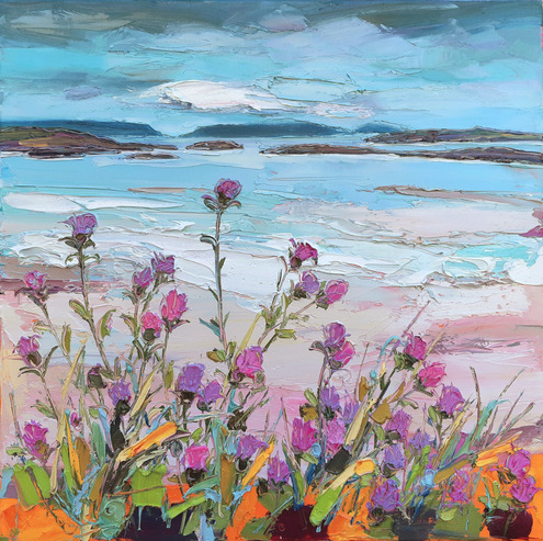 Knapweed by the Beach, Arisaig