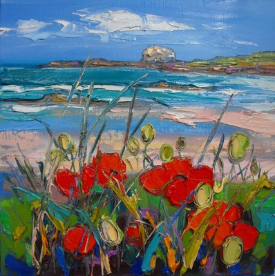 Poppies by the Shore, North Berwick