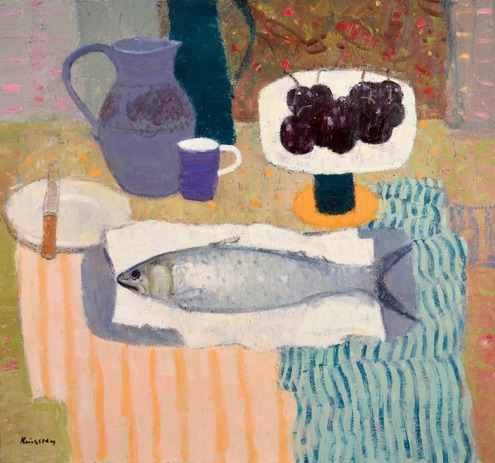 Still Life with Fish and Striped Cloth