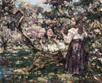 Girls among the Blossom