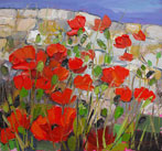 Poppies against Flint Wall, Birling Gap