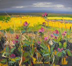 Hedgerow, Yellow Fields, Distant Sea, Fife