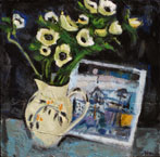 White Anemones and Duncan Shanks Card