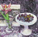 Black Grapes with Tulip & Victoria Crowe Card