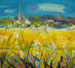 Church Spire across Fields, Burford