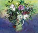 Roses in the Green Spotted Jug