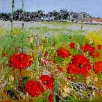 Poppies and Farm near North Berwick, June