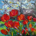 Spring Tulips with Cherry Blossom