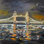 Moon over Tower Bridge