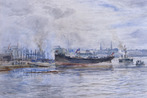 The Launch at Leith, 1887