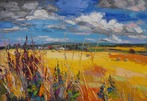 Clouds over Harvest, East Linton