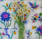 Daffodils and Thai Cloth