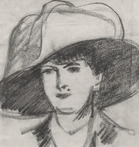 Girl with Round Hat