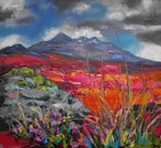 Heather and Grasses, the Cuillins
