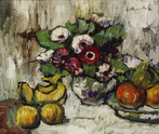 Still Life with Anemones and Fruit
