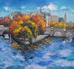Ile de la Cite, Autumn