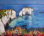 Old Harry Rocks in the Summer Heat