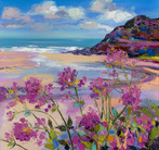 Pink Flowers at Caswell Bay