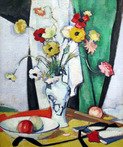 Still Life with Flowers, Fruit and Fan