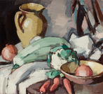 Still Life with Jug and Vegetables