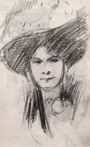 Woman in a Broad-brimmed Hat